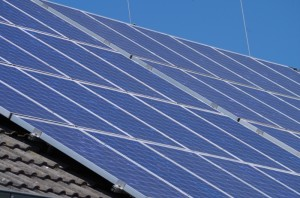 Typical Roof Mounted Solar PV panel array